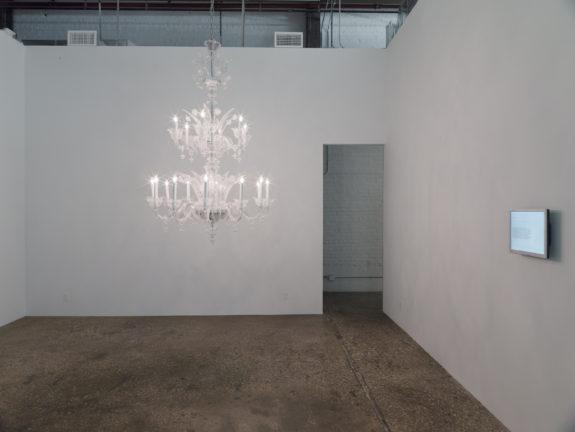 Chandelier in gallery