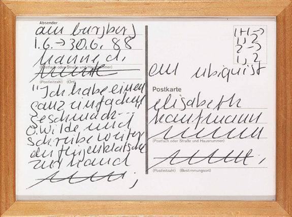 Scribbles on postcard
