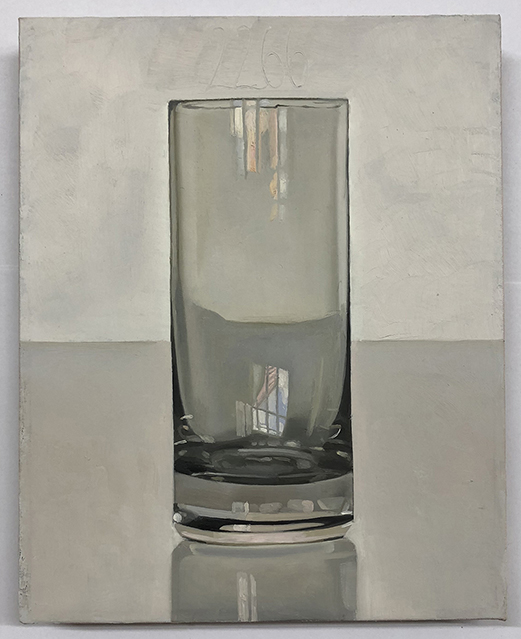 Painting of empty water glass