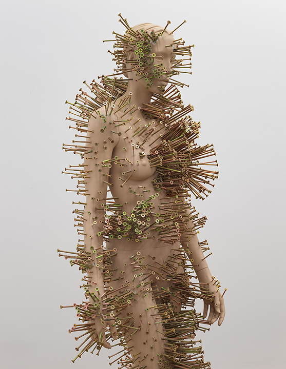 Mannequin with screws in it