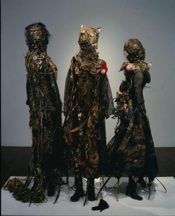sculptures in gallery