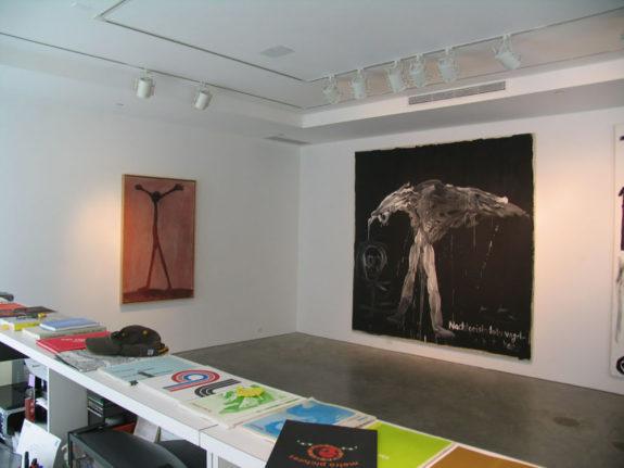 Large artworks in gallery