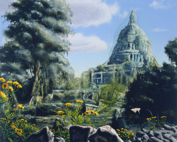 Painting of overgrown Capitol