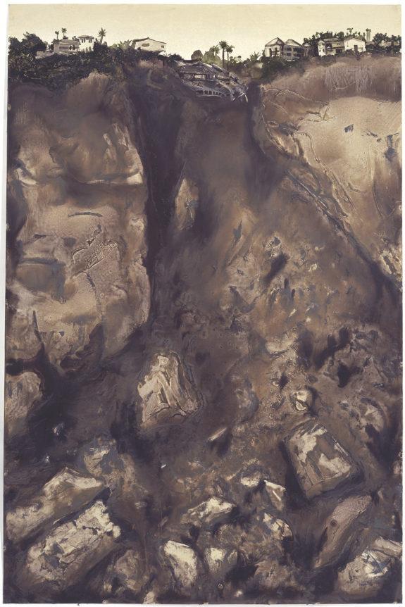 Painting of underground soil