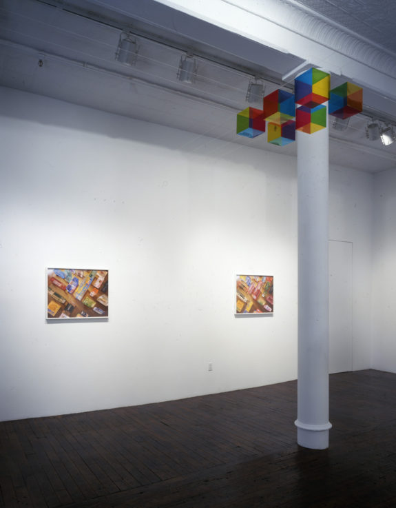 painting and sculpture in gallery