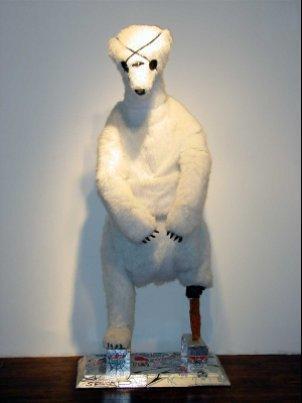 Sculpture of polar bear