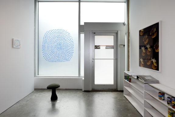 gallery front entrance with small sculpture