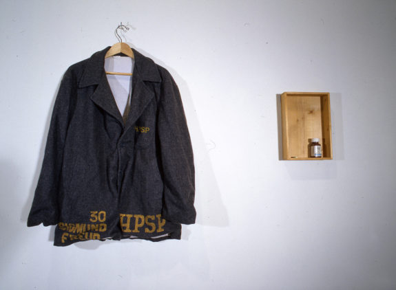Jacket on coat hanger