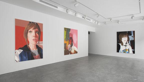 Paintings of women in gallery