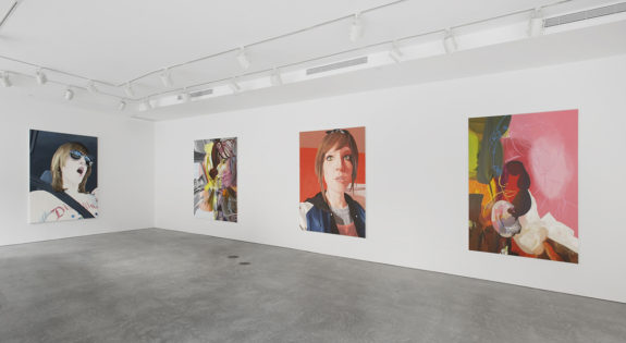 Paintings of women in gallery