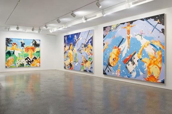 large paintings in gallery space