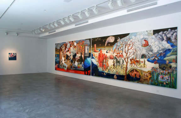 large painting in gallery