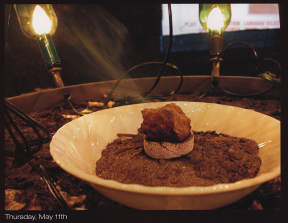 Brown food in a bowl