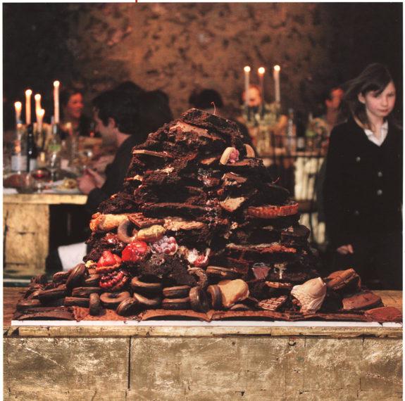 Pile of chocolate food