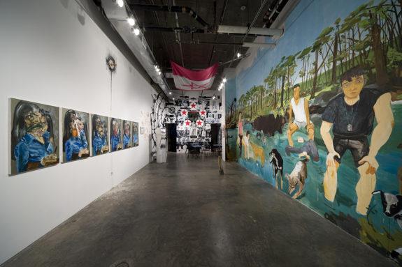 installation in gallery