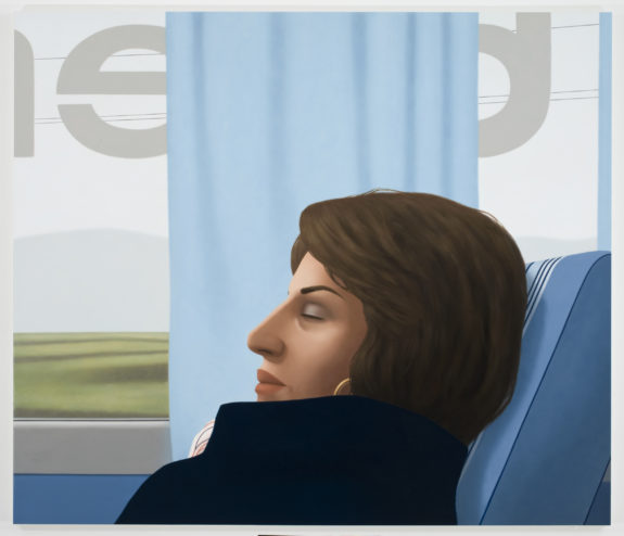 figurative painting of a woman