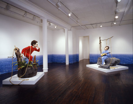 sculptures in gallery