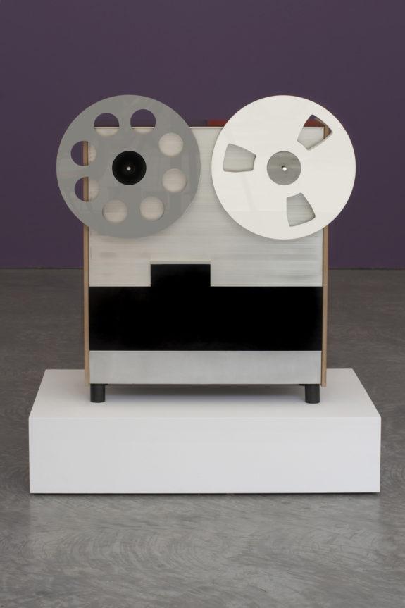 Fake film reel projector