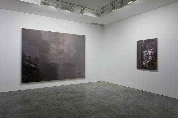 large paintings in gallery