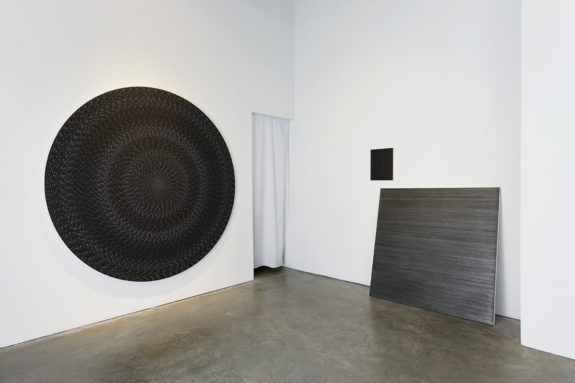 painting and sculpture in a gallery