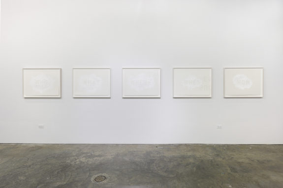 white paintings in a gallery