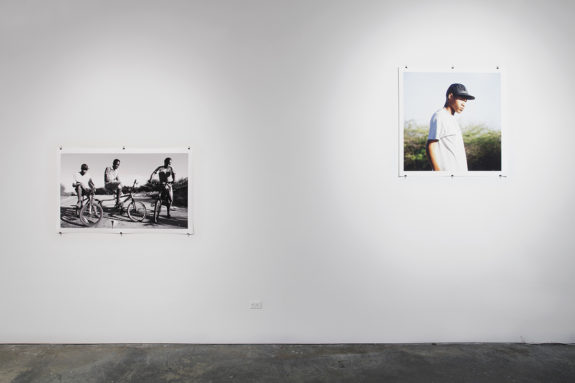 photographs in a gallery