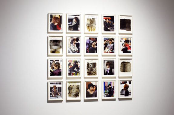 framed photographs in gallery