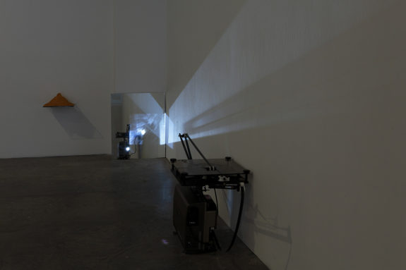 projector in a gallery