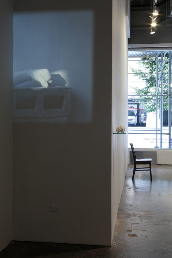 projection of a video in a gallery