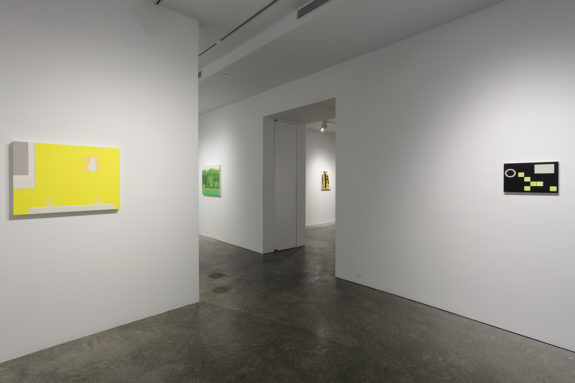 small paintings in gallery